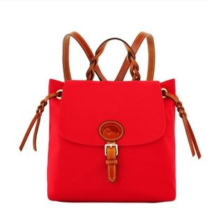 Dooney and Bourke nylon backpack red